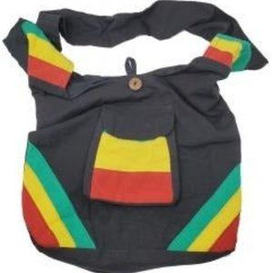 New RASTA Color Patch Work Cotton Bag